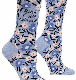 Blue Q Womens Socks - Bitch I am relaxed