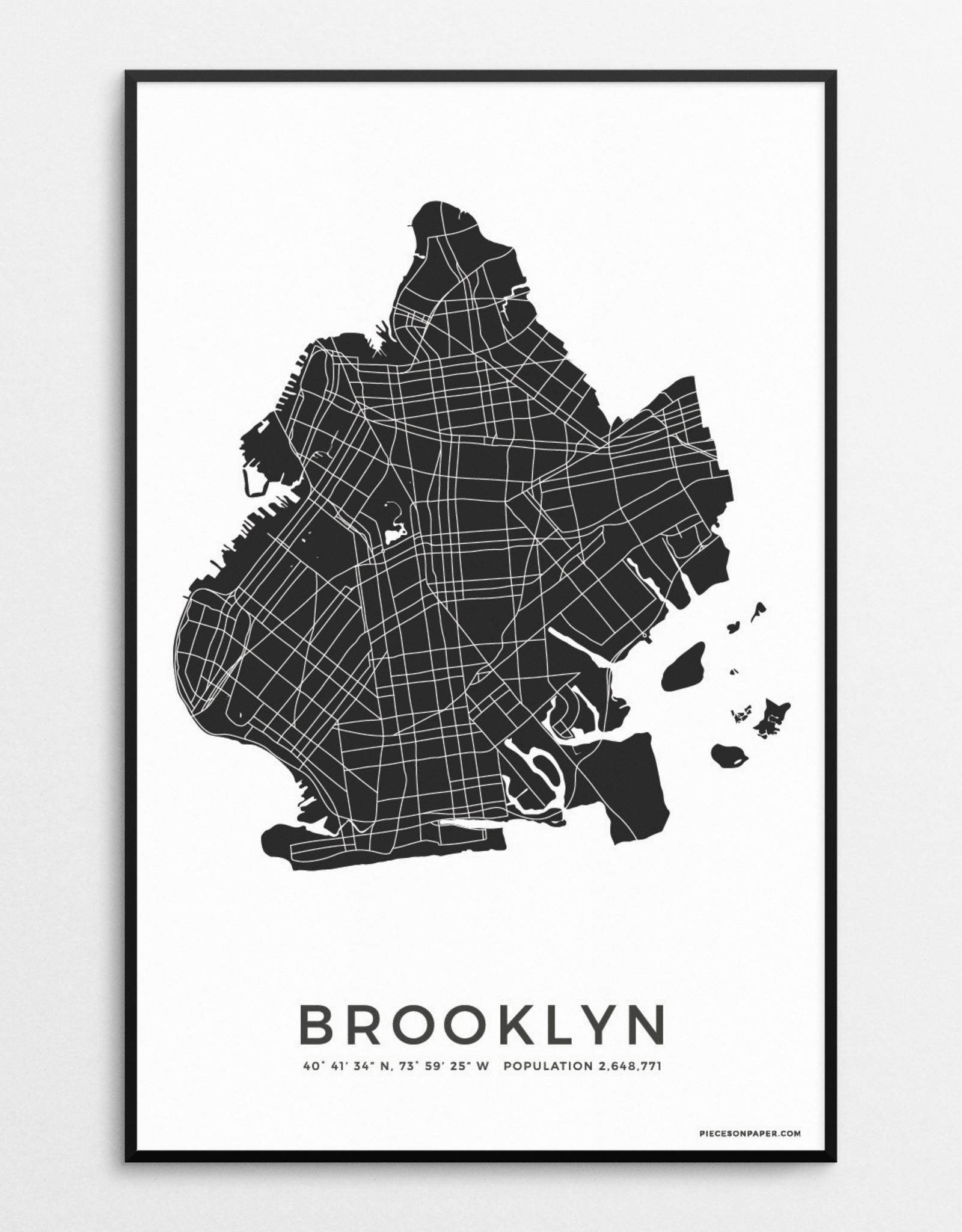 Brooklyn Print Black and White