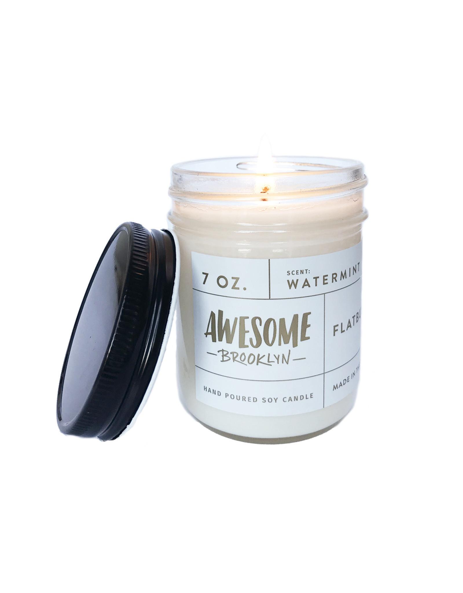 Greenmarket Purveying Company Awesome 7oz glass jar candle