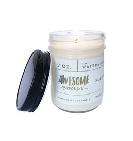 Greenmarket Purveying Company Awesome 7oz glass jar candle