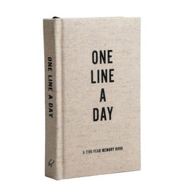 Chronicle Books Canvas One Line a Day Journal