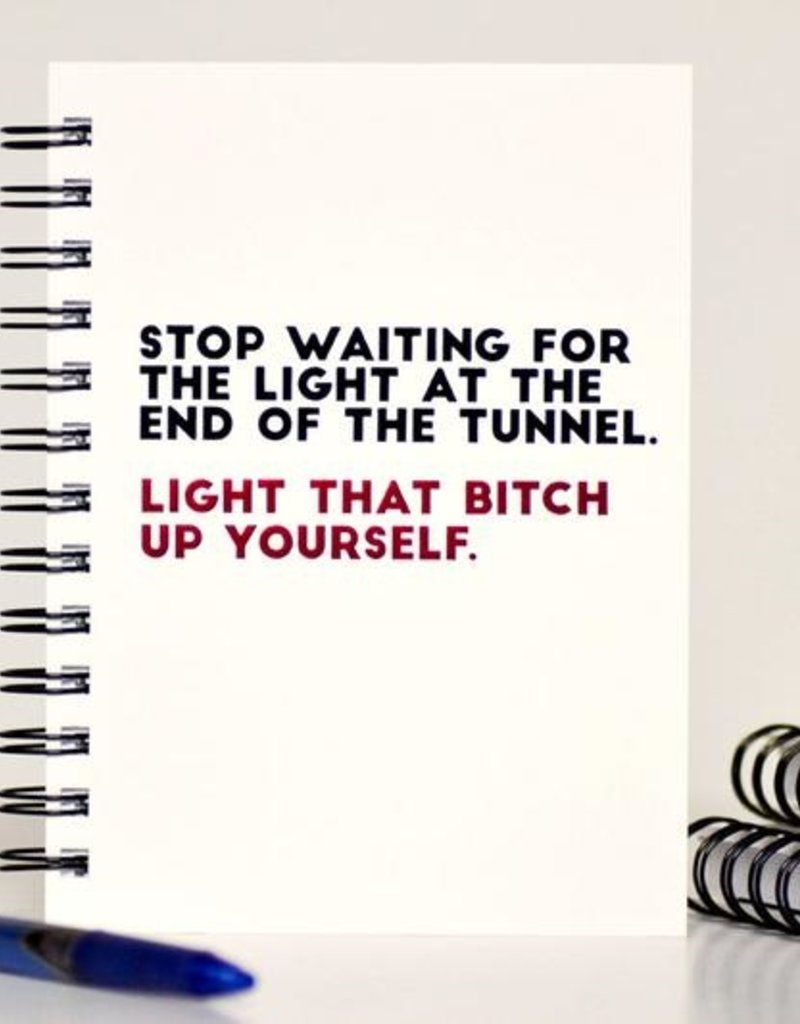 Letter Pressed Journal - The light at the end of the tunnel