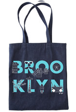 BROOKLYN font Denim Tote