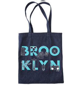 Maptote BROOKLYN font Denim Tote