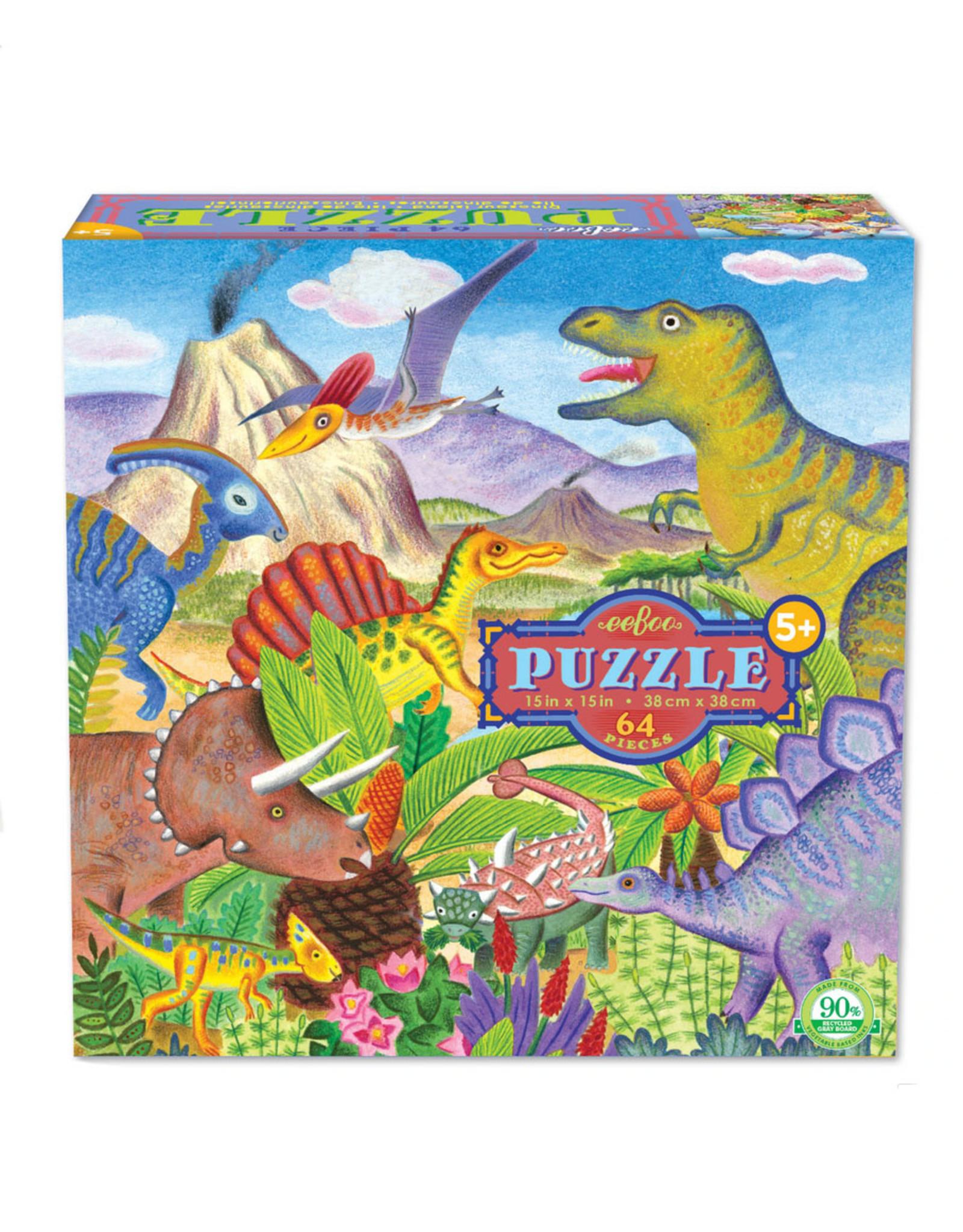 Puzzle: 64 piece dinosaur island