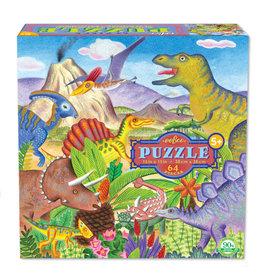 eeBoo Puzzle: 64 piece dinosaur island