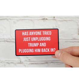 Meriwether Sticker: Unplug Trump