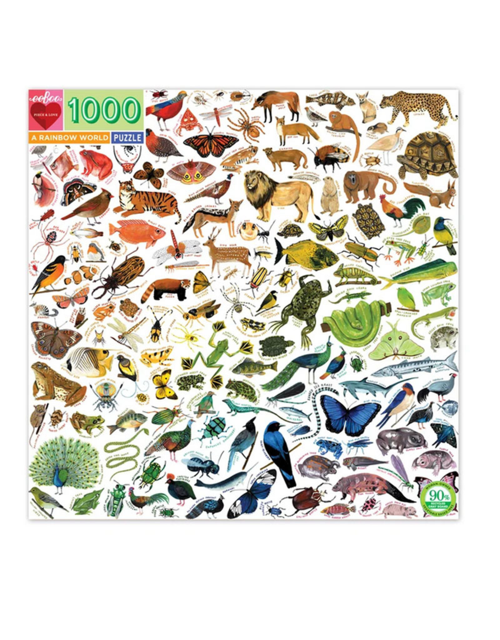 Puzzle 1000 piece: A Rainbow World
