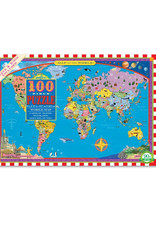 100 Piece Puzzle: World Map