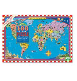 eeBoo 100 Piece Puzzle: World Map