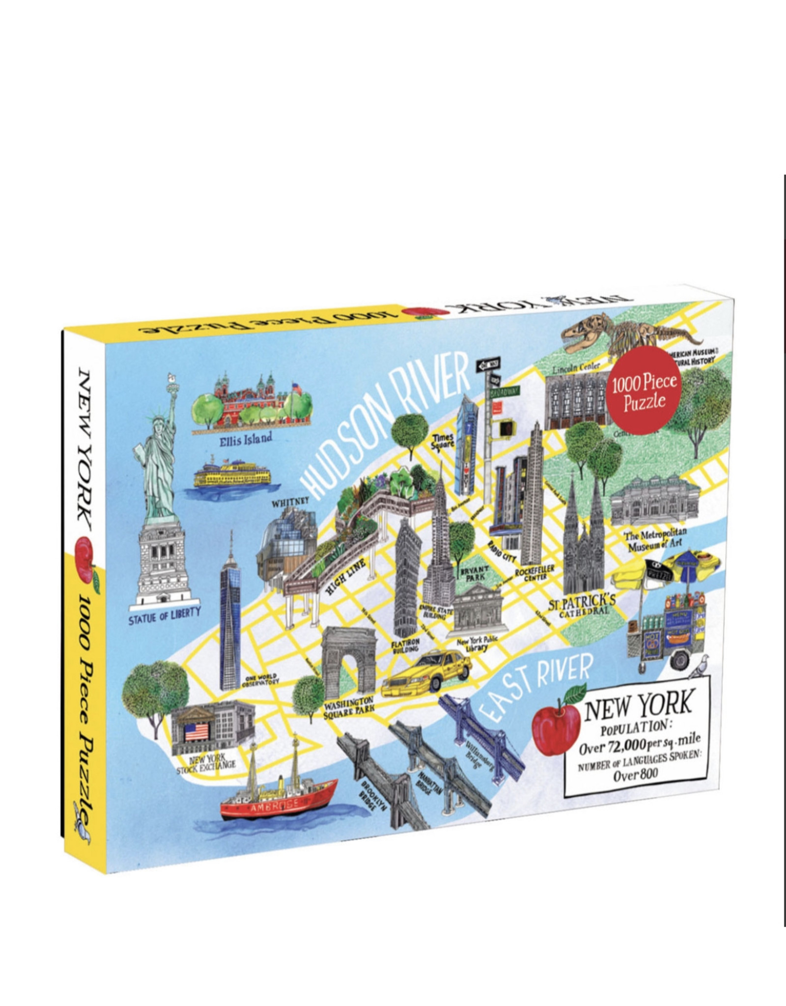 Chronicle Books New York City Map 1000 Piece Puzzle