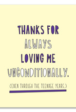Card - Mom/Dad: Loving me unconditionally