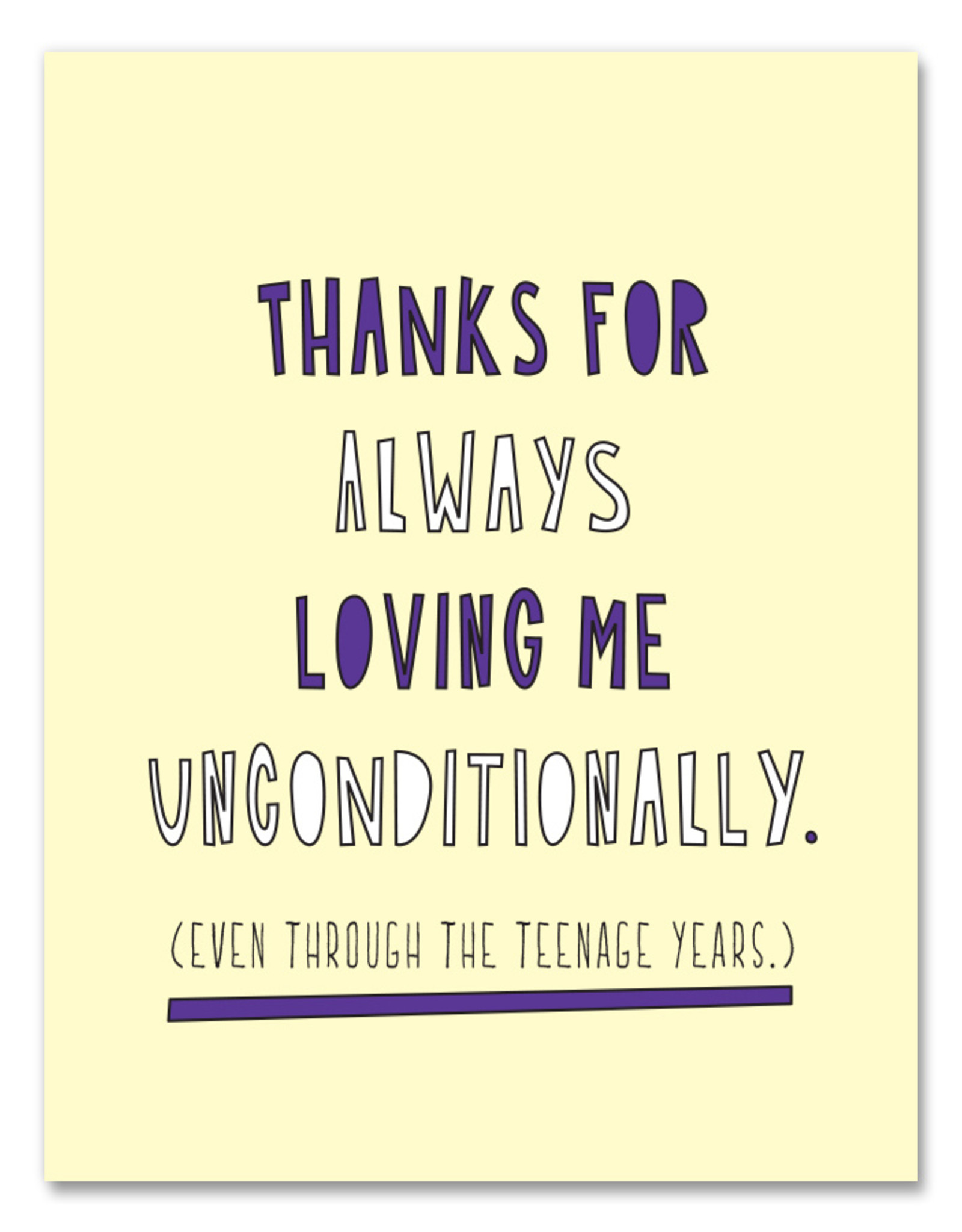 Near Modern Disaster Card - Mom/Dad: Loving me unconditionally