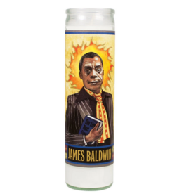 Unemployed Philosophers Guild Secular Saints Candle - Baldwin