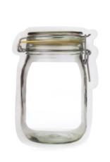 Kikkerland Mason Jar Zip Bags