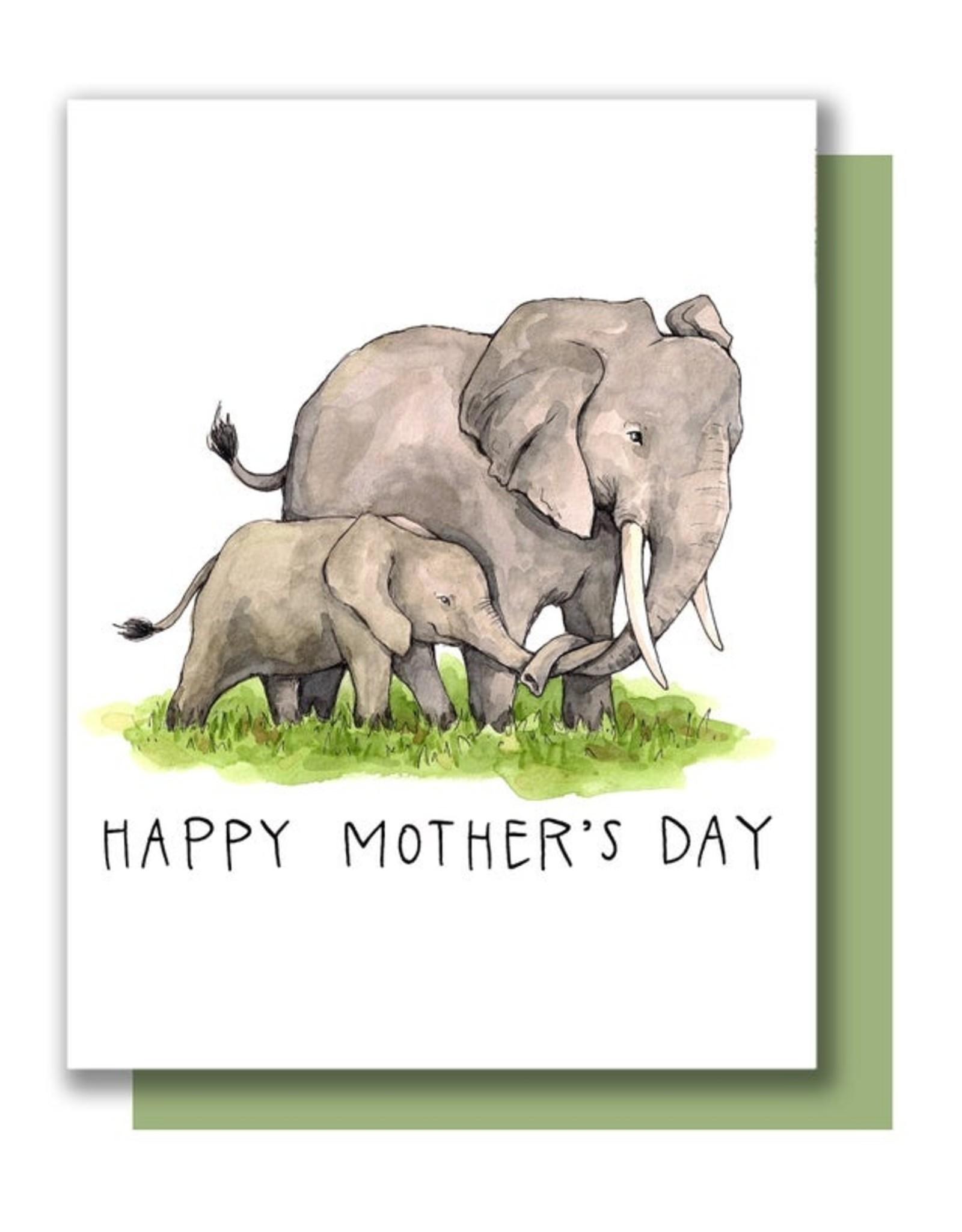 Paper Wilderness Card - Mom: Elephants