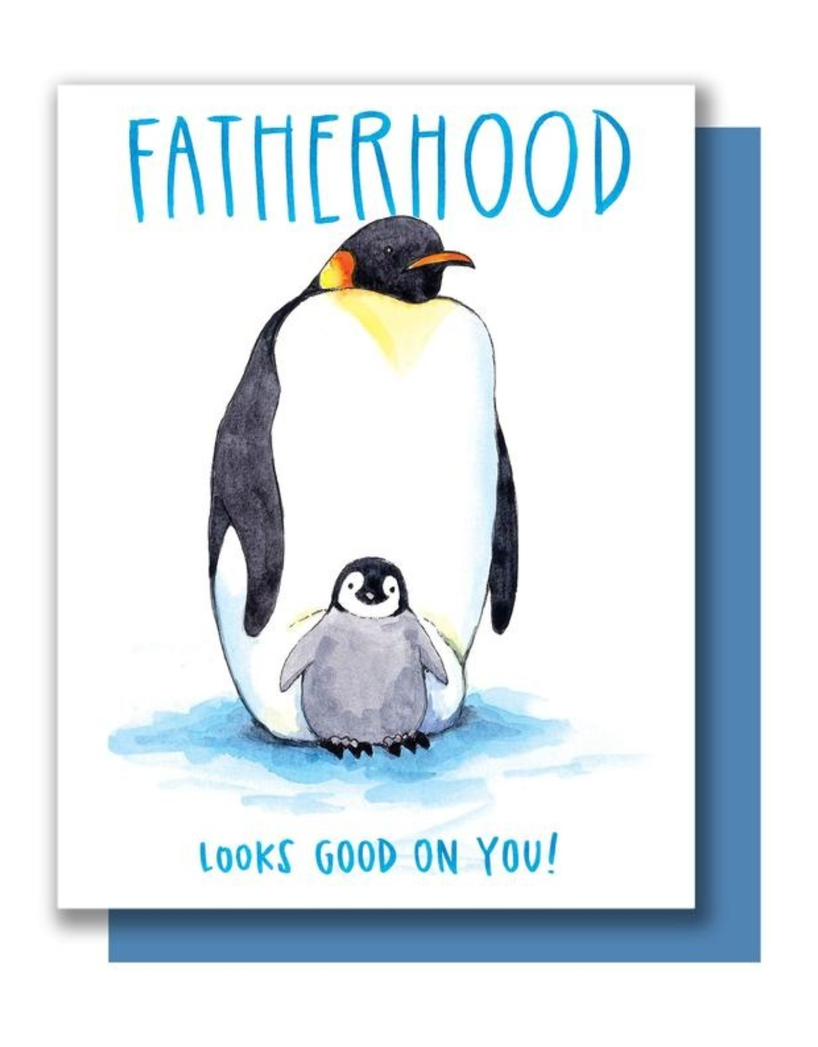 Card - Dad: Fatherhood penguins