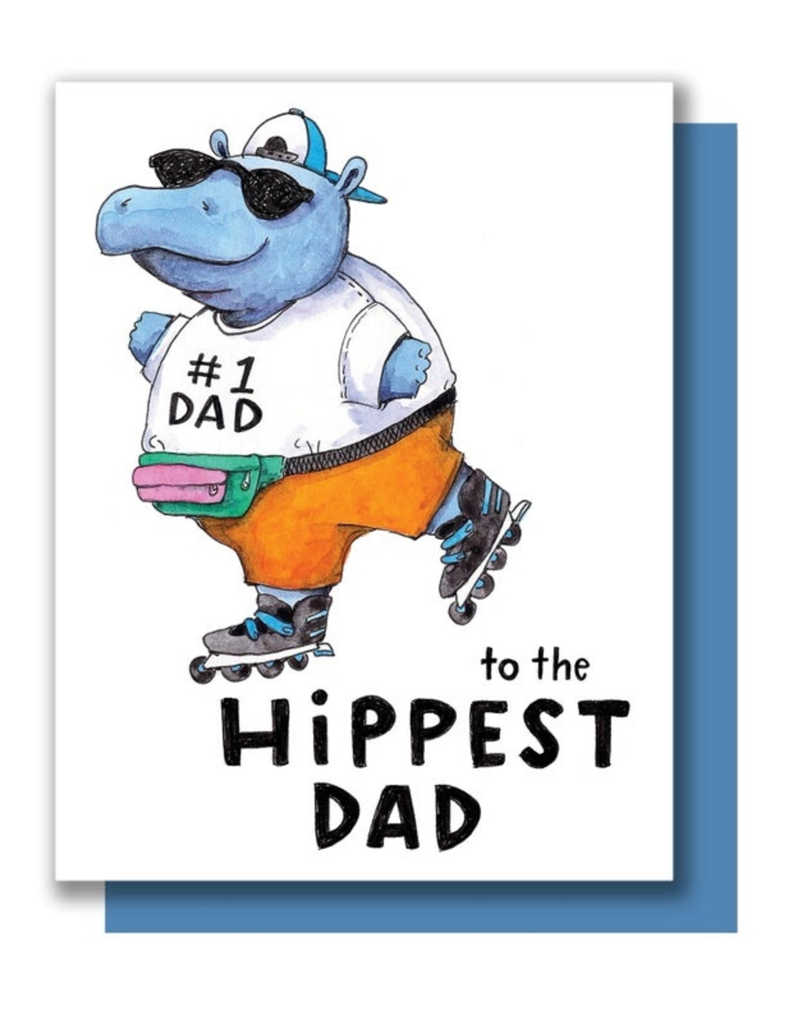 Card - Dad: Hippest Hippo