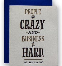 Ladyfingers Letterpress Card - Blank: Business is hard