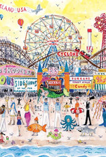 Puzzle 500 piece Michael Storrings Summer At The Amusement Park Coney Island