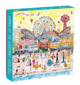 Chronicle Books Puzzle 500 piece Michael Storrings Summer At The Amusement Park Coney Island