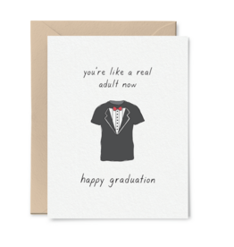 Card - Graduation: You're like a real adult now