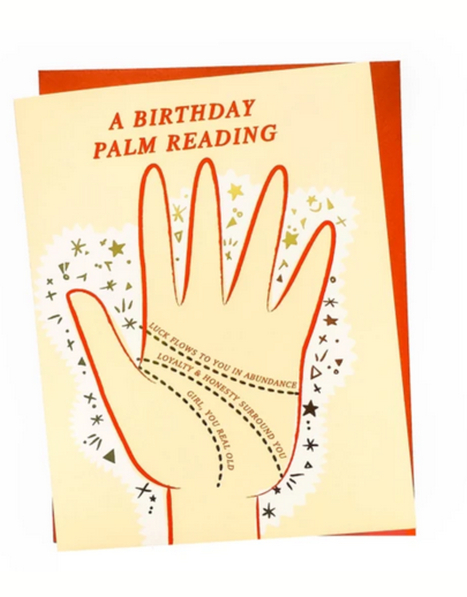 Rhino Parade Card - Birthday: Palm Reading