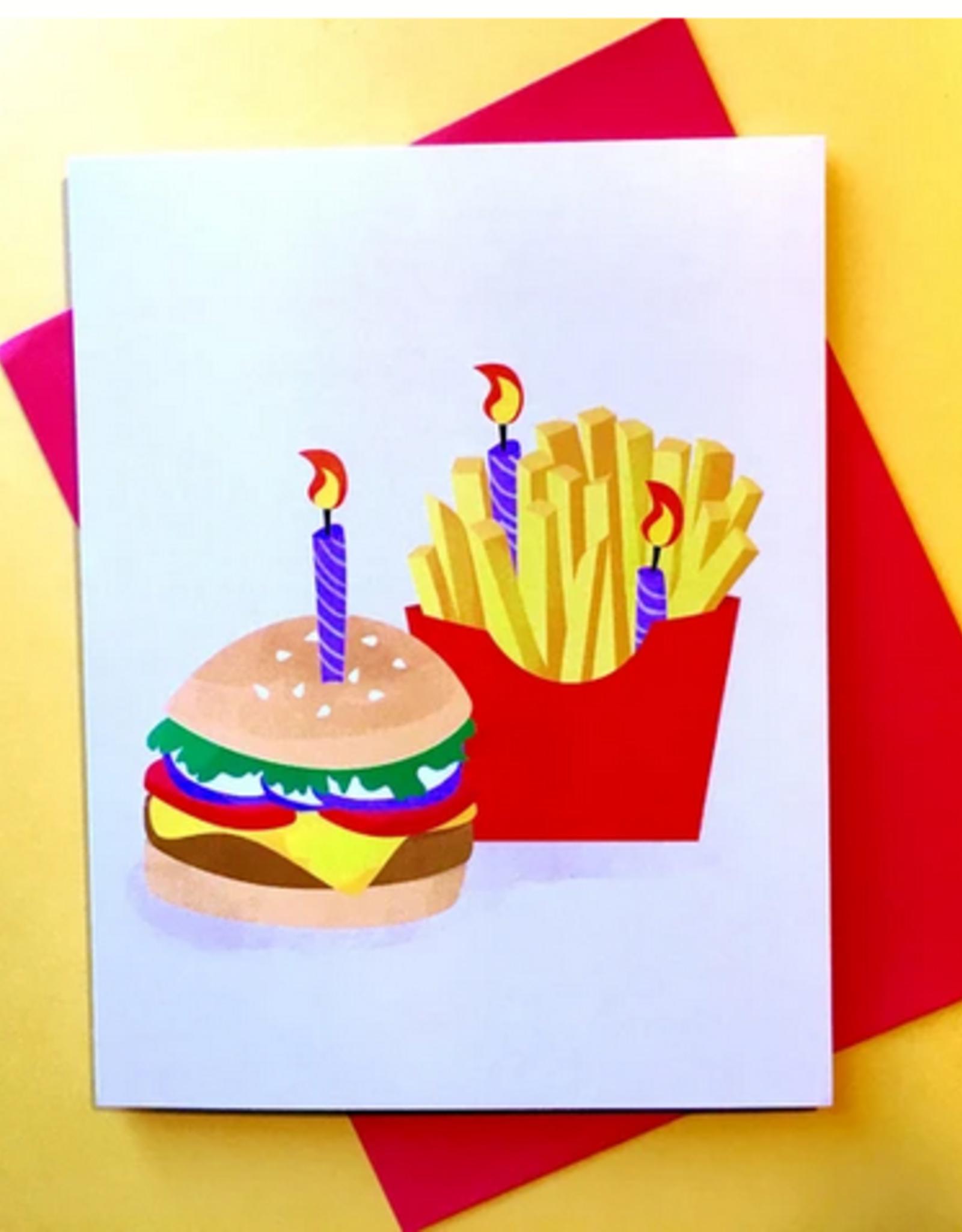 Rhino Parade Card - Birthday: Burger and Fries
