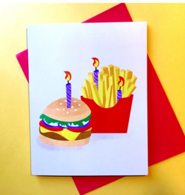 Card - Birthday: Burger and Fries