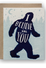 Ladyfingers Letterpress Card - Blank: Believe in you supernatural