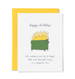 Little goat paper company Card - Birthday: Dumpster Fire