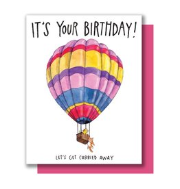 Paper Wilderness Card - Birthday: Carried Away Balloon