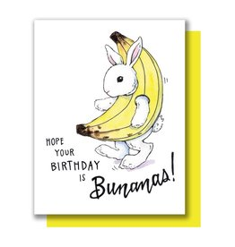 Paper Wilderness Card - Birthday: Banana Bunny