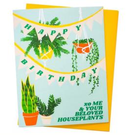 Rhino Parade Card - Birthday: Houseplants