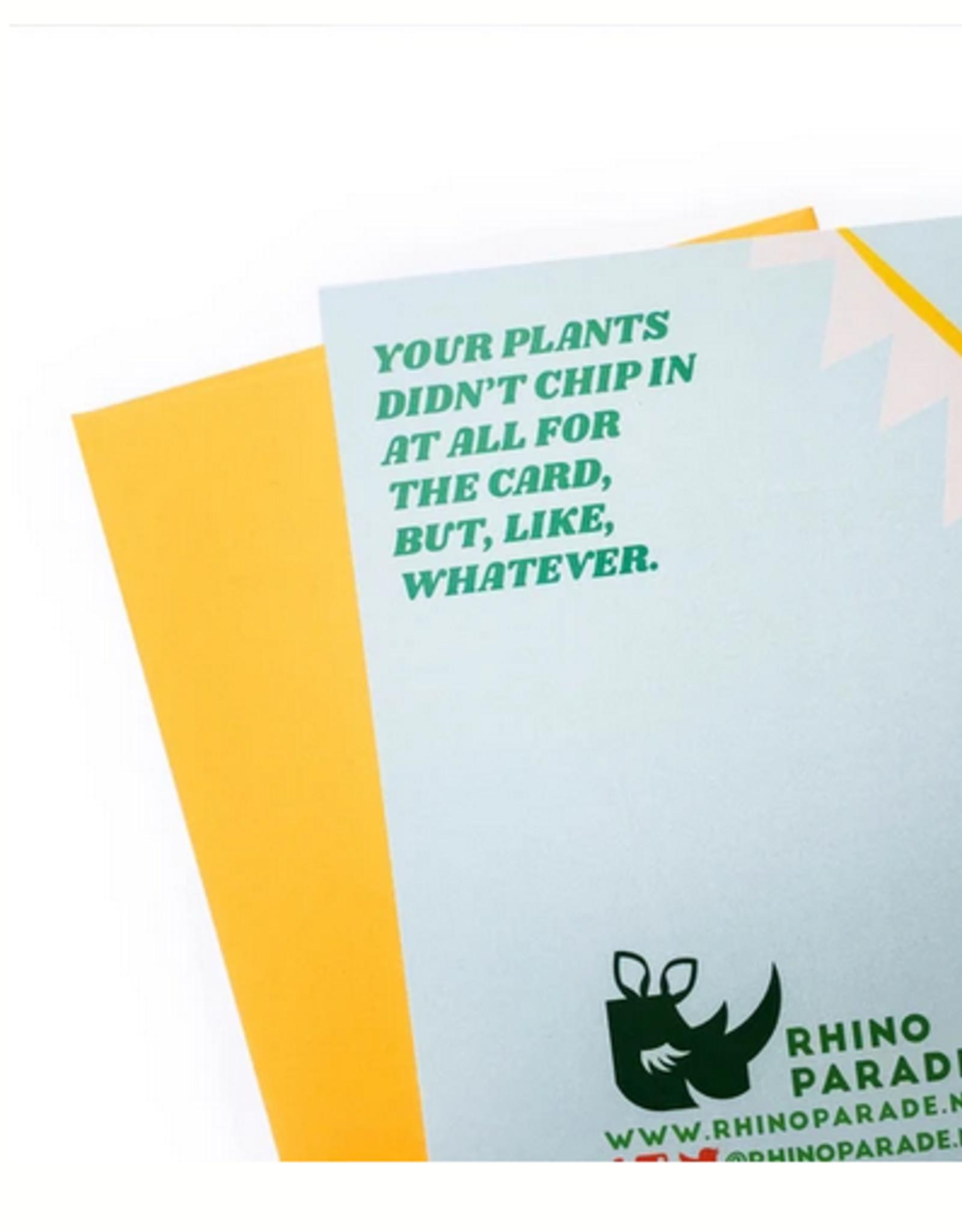 Card - Birthday: Houseplants