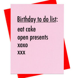 Card - Birthday: To Do List
