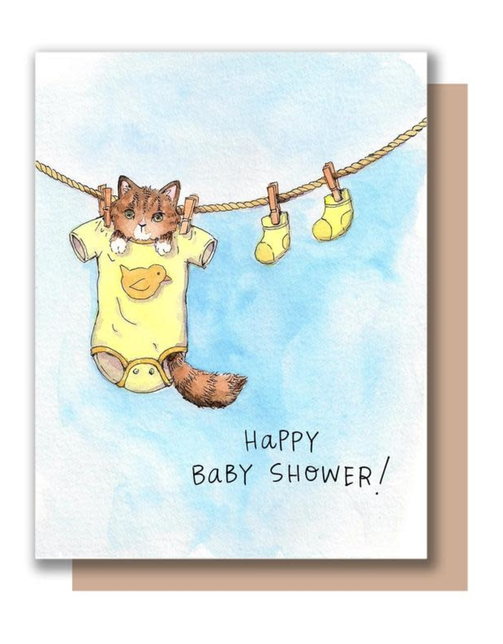 Paper Wilderness Card - Baby: Baby Shower