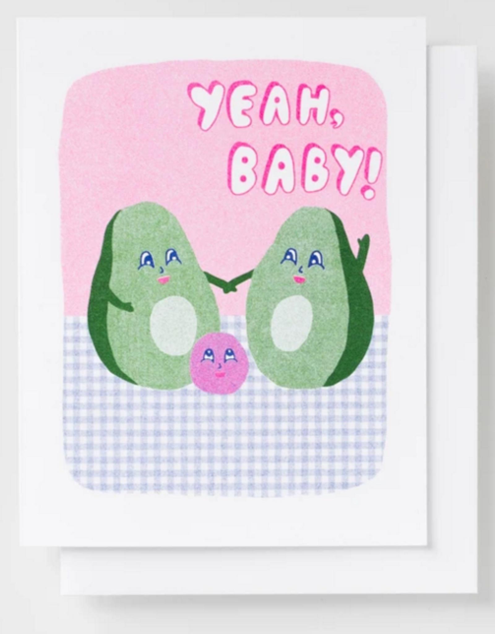 Card - Baby: Yeah Baby Avocado