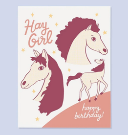 Card - Birthday: Hay Girl