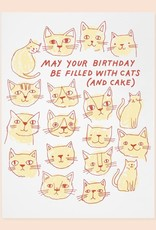 Card - Birthday: Filled with Cats (and cake)