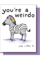 Card - Blank: Weirdo Zebra