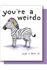 Paper Wilderness Card - Blank: Weirdo Zebra