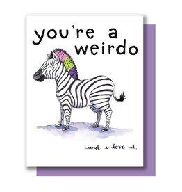 Card - Blank: Weirdo Zebra