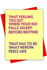 Card - Blank: When your kid falls asleep