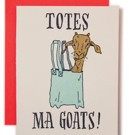Ladyfingers Letterpress Card - Blank: Totes Ma Goats!