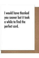 Card - Thank you: Took a while to find the perfect card