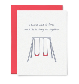 Little goat paper company Card - Baby: Force our kids to hang out