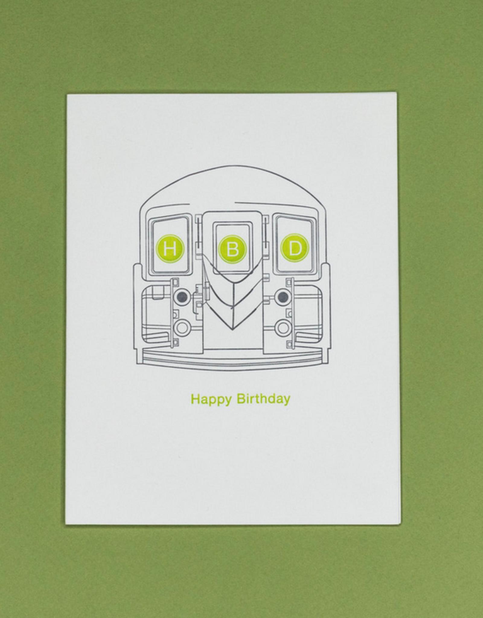 Quick Brown Fox Card - Birthday: HBD