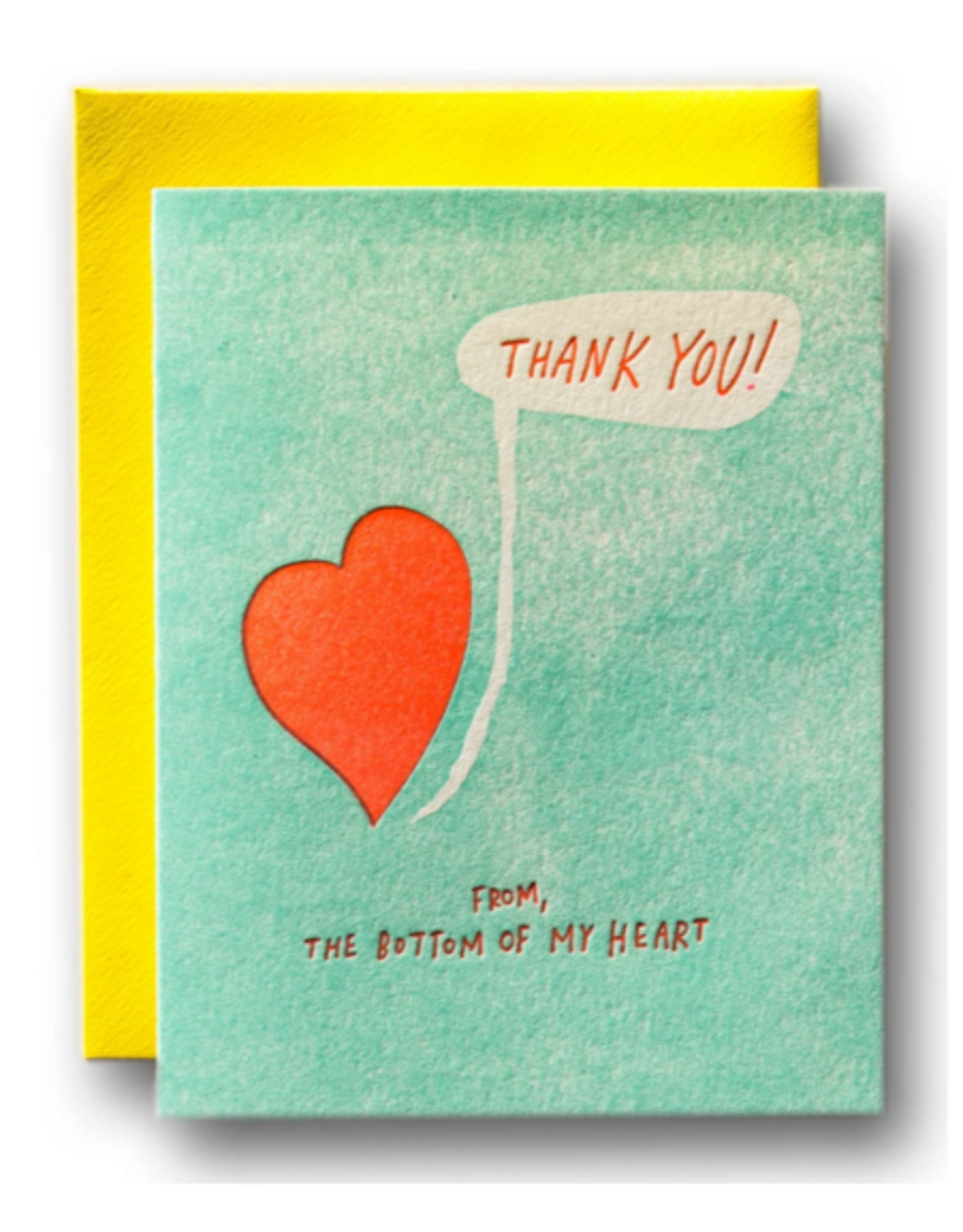 Card - Thank you: From the bottom of my heart