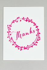 Card - Thank you: wreath